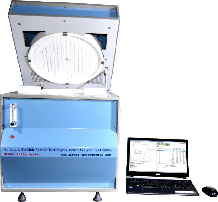 Navas Instruments thermogravimetric analyzers for quality control and research used in the analysis of organic and inorganic materials