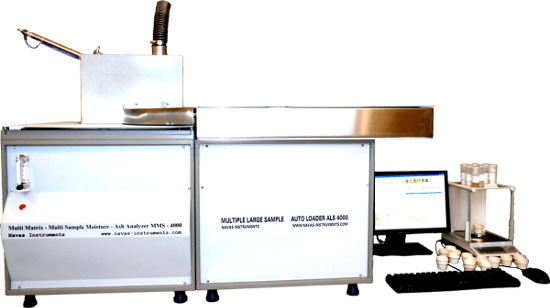 Navas Instruments ThermoBatch-TGA-Analyzer-80 series ash and/or moisture analyzers with autoloader for large throughput